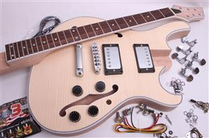 Electric Guitar Kit- Carved Top Semi Hollow  BYO-CT-SH2
