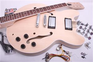 Electric Guitar Kit- Arched Top Semi Hollow  BYO-ES