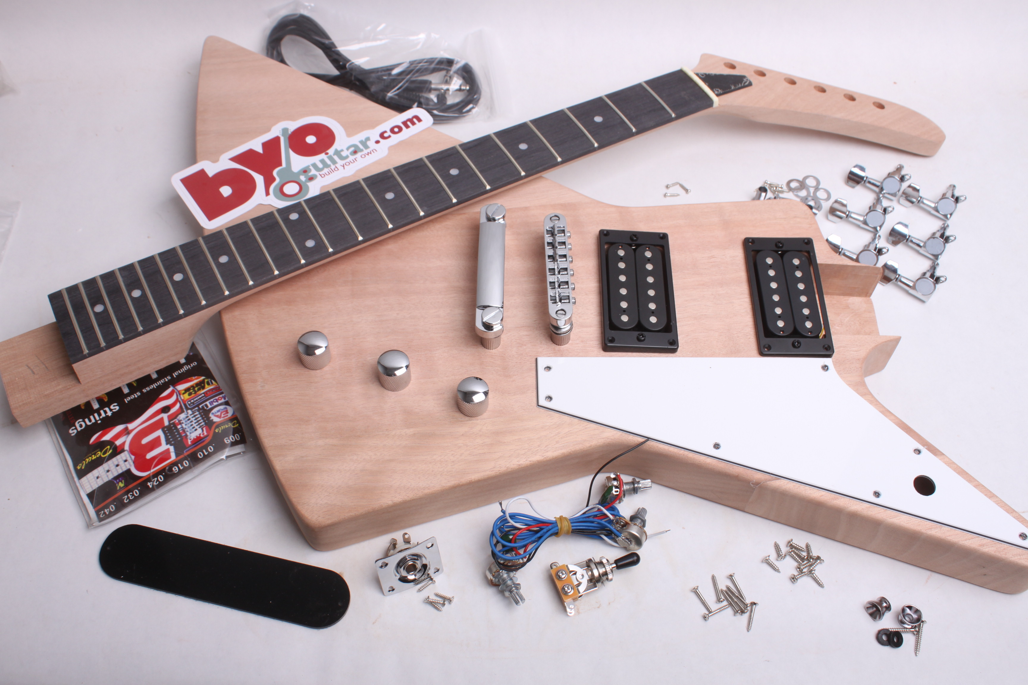 Fantastic Electric Guitar Kit Explorer Style Guitar Bodies And Kits From Wiring Digital Resources Unprprontobusorg