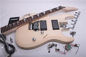 Electric guitar kit rg style guitar bodies and kits from byoguitar electric guitar kit js style byo js solutioingenieria Image collections