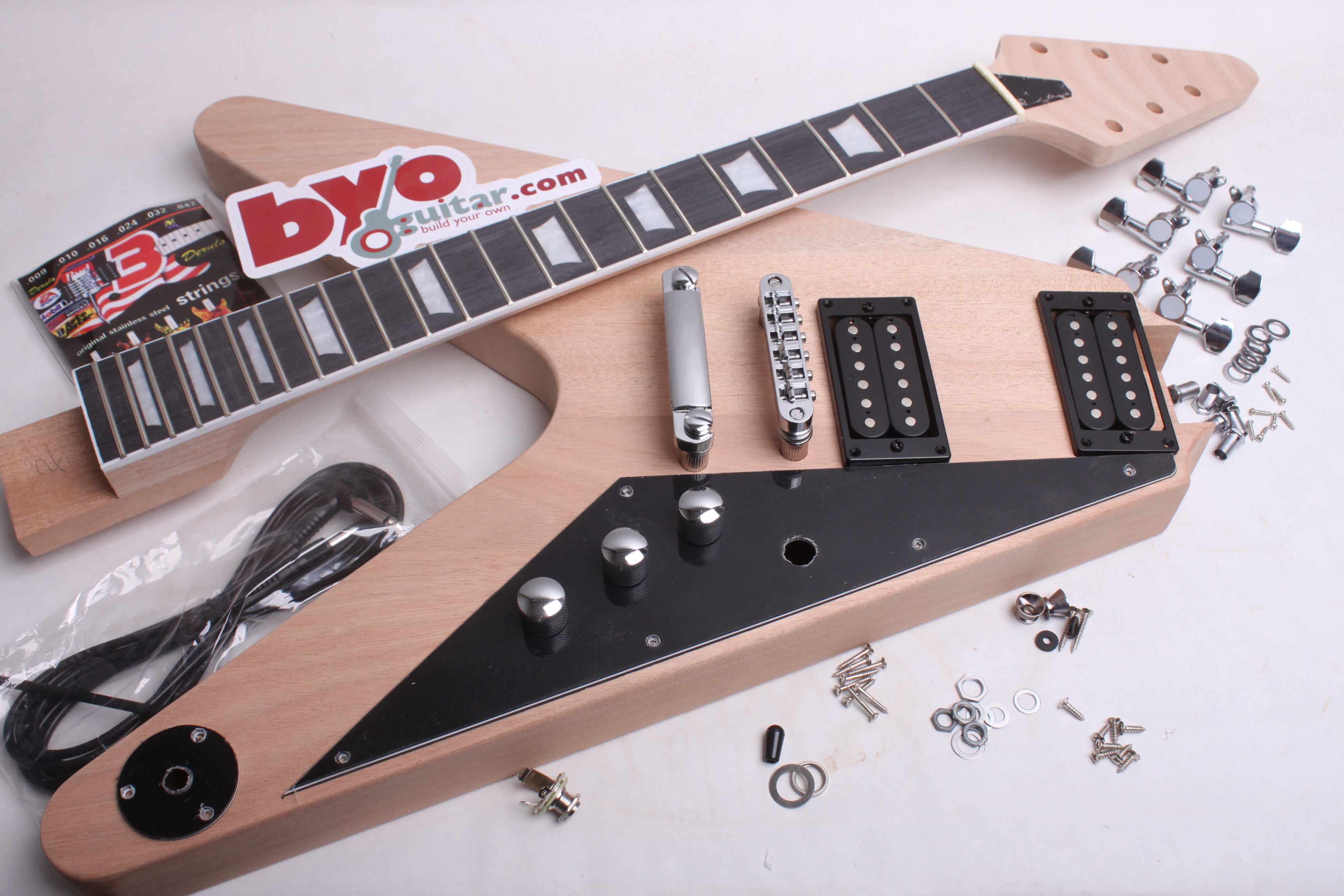 Electric Guitar Kit Flying V Style Bodies And Kits From Diagram Parts Definitions Byoguitar