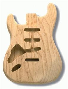 Allparts Left Handed Strat Body in Ash SBAO-L
