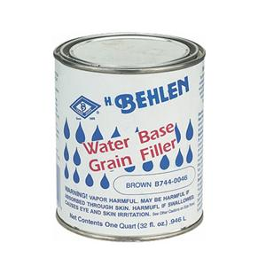 Behlen Water-Based Grain Filler, Brown, 1 Quart B744-0026