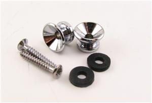 Electric Guitar Strap Buttons in Chrome BYO-SBC