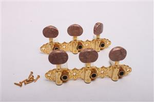 6 Inline Tuners - gold CLR-TN-Gld