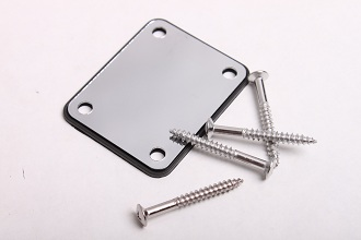 4 Hole Electric Guitar Neckplate in Chrome WD-NBS3C