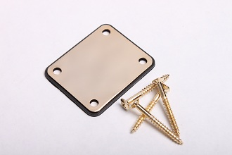 4 Hole Electric Guitar Neckplate in Gold BYO-NP-G