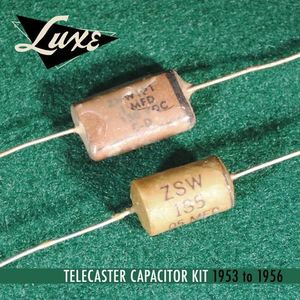 1956-1960 Matched Pair of Luxe Oil-Filled .022mF Bumble Bee Capacitors KBEP022