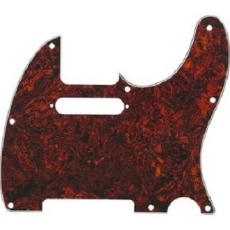 Tele Red Tortoise Pickguard BYO-T-PG-Red