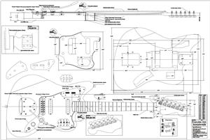 fender jazzmaster body template - full scale jaguar plan guitar bodies and kits from byoguitar