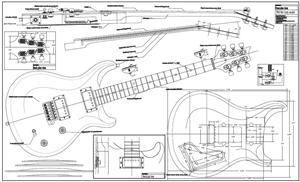 Full Scale P R S McCarty Plan  BYOPLAN P R S on les paul wiring kits