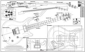PRS-McCarthy-electric-guitar-full-size-plan-MED Prs Custom Guitar Pickups Wiring Diagram on