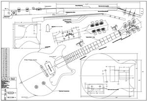 Full Scale LPJR Double Cut  BYOPLAN LPJRDC on fender stratocaster neck