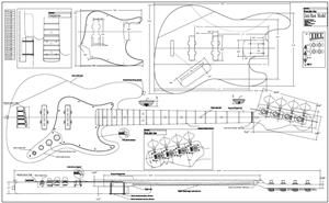 Full Scale Jazz Bass Plan BYOPLAN-JBASS