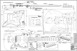Full  Scale Jazzmaster BYOPLAN-JAZZ