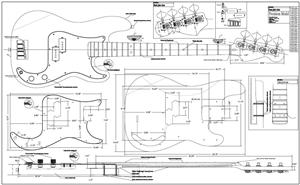 Free Bass Guitar Body Plans on fender stratocaster blueprint