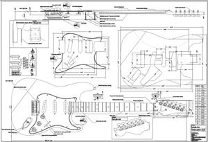 full scale strat plan guitar bodies and kits from byoguitar. Black Bedroom Furniture Sets. Home Design Ideas