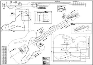 Full Scale 69 Tele Thinline BYOPLAN-69TLINE