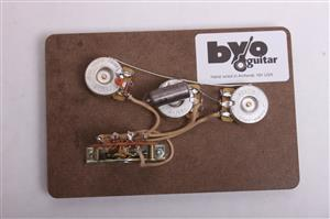 5 way strat pre wired harness guitar bodies and kits from byoguitar 3 way tele pre wired harness byo t3